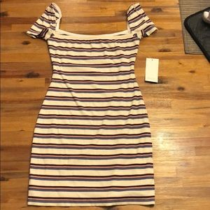 NWT Tobi Striped Short Sleeved Dress